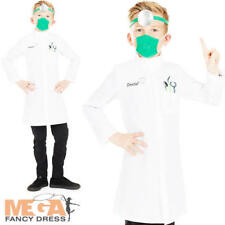 Dentist Kids Fancy Dress Tooth Doctor Occupation Uniform Childs Costume Outfit