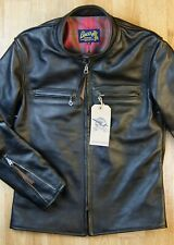 Aero Board Racer Buco J-100 36 Blackened Brown Vicenza Horsehide Leather Jacket