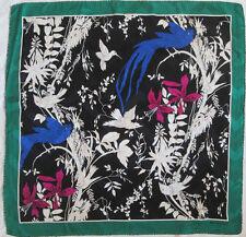 -Superbe Foulard  BALENCIAGA soie  TBEG  vintage scarf  86 x 89 cm