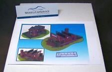 Modellbau-Gelände 1/87: H015059 Geländestück Fabrik mit Schlot (Fertigmodell)