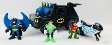 Fisher Price Imaginext DC Super Friends Batman Hummer Truck w/ Cycle & Robin ++