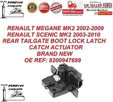 RENAULT MEGANE MK2 SCENIC MK2 REAR TAILGATE BOOTLID  LOCK LATCH CATCH ACTUATOR