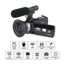 KOMERY 4K Camcorder Wifi Video Camera with Wide-angle Lens Microphone