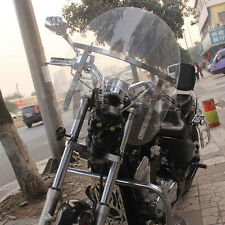 Motorcycle clear Wind screen deflector windshield windscreen For Harley cruising