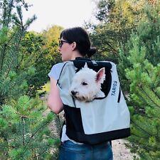 Hunderucksack Hundetragerucksack für Hunde bis 8 kg Wandern, Radfahren Grau S