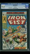 Iron Fist #14 CGC 9.8 White Pages *1st App Sabertooth!* Winnipeg Pedigree