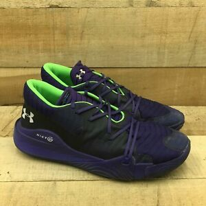 Under Armour Mens Anatomix Spawn 2 3022384-500 Purple Running Shoes Size 16
