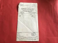 Stimpson Lock & Vince Auctioneers & Estate Agents Watford 1971 receipt R36391