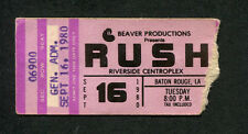 1980 Rush Saxon concert ticket stub Baton Rouge Moving Pictures Tom Sawyer