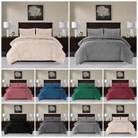 Luxury Crushed Velvet Double Duvet Set Bedding Sets Quilt With Pillow Cases