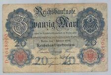 Banknote Deutschland - Deutsches Reich - Reichsbanknote - 20 Mark - 1908