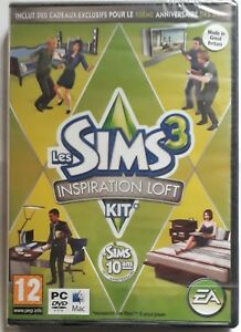 SIMS 3 INSPIRATION LOFT KIT PC DVD-ROM/MAC ADD-ON PACK new & sealed FRENCH ONLY