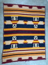 "Antique wool Trade Indian Eagle Pattern Camp Blanket  Large 55"" x 72"""