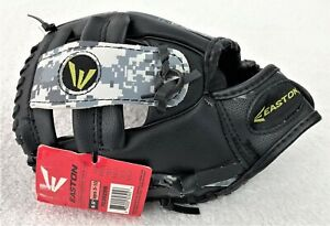 """Easton 9.5"""" (24cms) Tee Ball Glove Age 5-10 Black Ops Camo Pattern Left Hand NEW"""