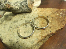 Vintage Honest 925 Ikb Sterling Silver Medium Hoop Band Earrings 4.5g, Tested