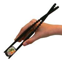 Struggle-free Crossover Chopsticks, Easy Kids Adults Training Learning, Black