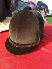 """Gatehouse Riding Showing Helmet Hickstead Black Velvet  6 5/8"""" 54 cm NEW w/case"""