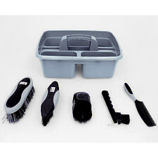 Tack Room Tidy Grooming Kit Set Tray and Grooming Brushes Horse Equestrian Yard