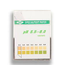 pH Indicator Home Test Strips (5.5 - 8.0) - 100 Strips