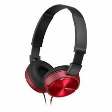 Sony Headphones MDR-ZX310AP Foldable Stereo Headset Earphones  For Music - Red