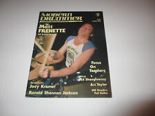 LOVERBOY Matt Frenette MODERN DRUMMER magazine March 1984 rare