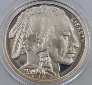 2001 $1 P & D Silver American Buffalo 2-Coin Proof/Uncirculated Set with OGP/COA