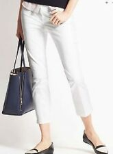 Ann Taylor - Size 2 (XS) White Cambridge Slim Cropped Ankle Pants $69.00 (30)