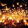 Chinese Sky Wishing Lanterns Fly Candle Lamp Wish Wedding Party Lanterns Gi X3Z3