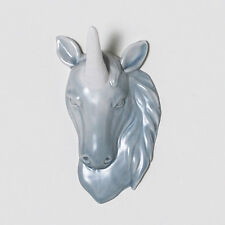 Porcelain Unicorn Head Wall Art Decor Jewelry Holder Hook Hanger by imm Living