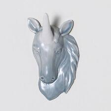 Porcelain Unicorn Head Wall Art Decor Jewelry Holder Hook Hanger by imm Living