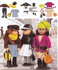 PATTERN for Clothes Accessories McCalls 6804 toSEW hat dress purse fit 18in doll