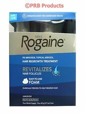 Rogaine Foam 5% Minoxidil xs Hair growth Regaine 4 Mens