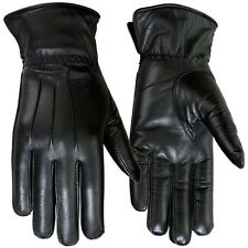 Ladies Dress Gloves Genuine Leather Soft Thermal Lined Driving Glove Black 7.5