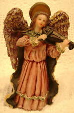 Beautiful Angel Cherub Playing Music Figurine Statue