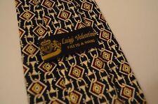 Valentino Tie Maroon Gold Diamond Pattern