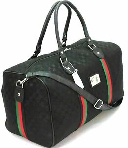 Italian Leather Style Holdall Luggage Weekend Duffel Cabin Travel Bag Cabin Case