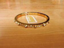 Michael Kors Gold-Tone Crystal Hinge Bangle Bracelet MSRP $145