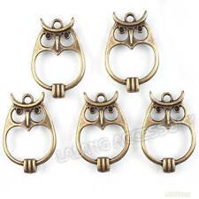20x New Wholesale Antique Bronze Owl Charms Connector Pendants Findings Lots D