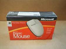 A50 Vintage Serial PS/2 Microsoft White Basic Mouse Series V1.0 WIN NT A50-00001