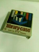 Library case 5.25 diskettes floppy disks vintage NOS SRW Computer 1984