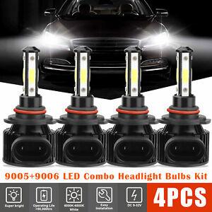 4pcs 9005+9006 LED Combo Headlight Kit CREE COB 240W High & Low Beam Light Bulbs