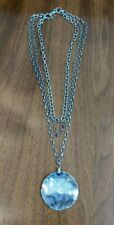 3-Strand Necklace with Pendant Silpada N1725 Sterling Silver