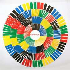 530pcs 21 Heat Shrink Tube Tubing Sleeving Wrap Wire Assorted Kit 5 Color 8size