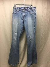 Levi Strauss Signature Low Rise Flare Jr Button Fly Jeans Med Wash Size 5- Nice!