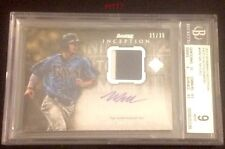 WIL MYERS RC GU 2 COLOR PATCH AUTO 2013 BOWMAN INCEPTION 35/35 WM BGS MINT 9/10