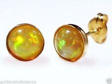 Echter Edelsteine-Ohrschmuck aus Gelbgold mit Opal für Damen