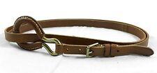 Ralph Lauren Genuine Light Brown Leather Double Wrap Belt sz. M $295 BNWT