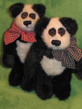 Boyd's Bears Plush~1997~QVC Exclusive~Panda Pair~OLAS & OMAR~6 in~Hard To Find~
