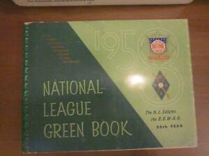 Original 1958 National League Green Book, EX Condition