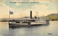 Lake George New York Steamer Sagamore Ship Antique Postcard K26011